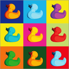 pop art duck